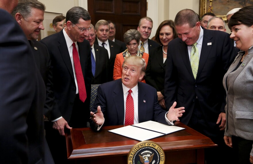 During his tenure as president, Trump has signed a series of executive orders rolling back Obama-era regulations.
