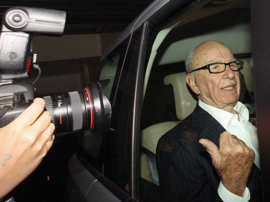 Rupert Murdoch as he left his apartment in London earlier today (July 12, 2011).
