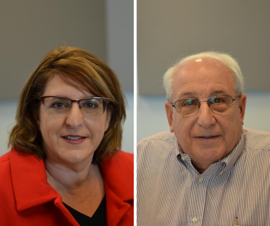 Jill Alexander and Carl Sherman of the Missouri Veterans History Project.