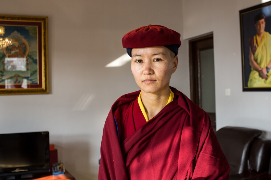 Jigme Migyur Palmo, one of the nuns. They range in age from 6 to 80.