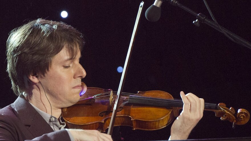 Violinist Joshua Bell at the National Christmas Tree Lighting in Washington, D.C., on Dec. 6.