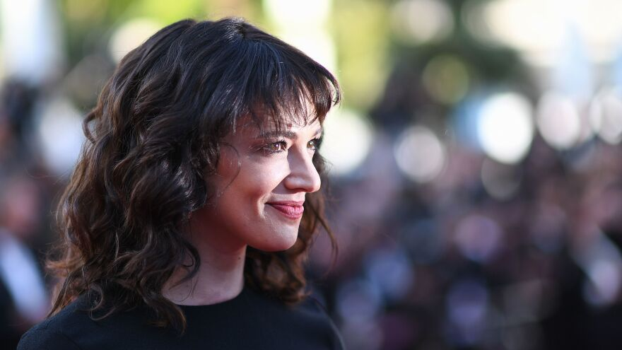 Italian actress Asia Argento arrives at a film screening at the Cannes Film Festival in Cannes, France, on May 19.
