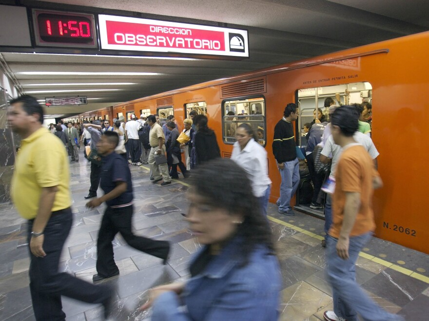 """Taibo's self-proclaimed """"street"""" detective doesn't own a car. He gets around on Mexico City's packed, inexpensive subway. """"His only way to survive was to accept the chaos and become one with it,"""" Taibo writes."""