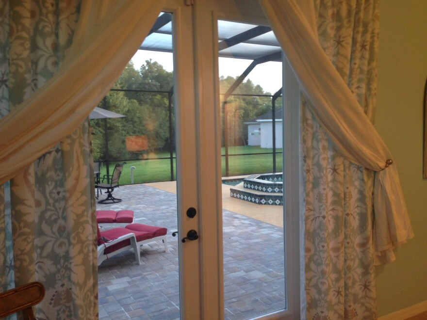 The mother-in-law suite includes a private door to the outside patio.