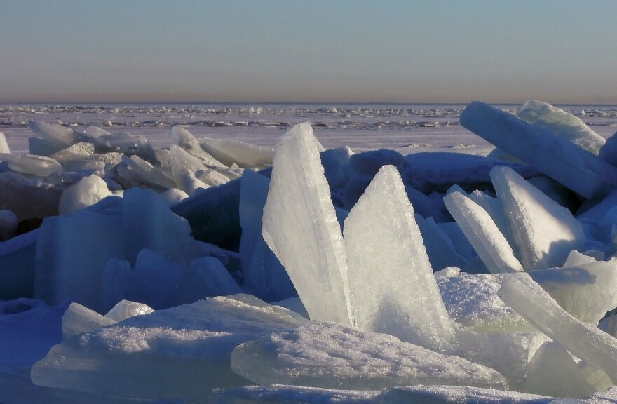 Picture of an ice floe.
