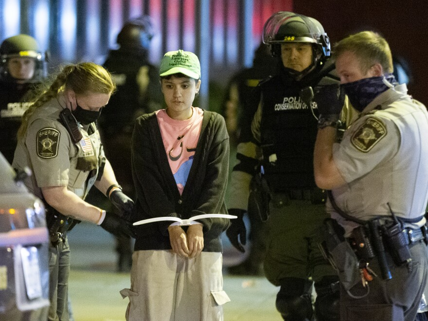 Minneapolis police announced more than 50 arrests were made Wednesday night during protests.