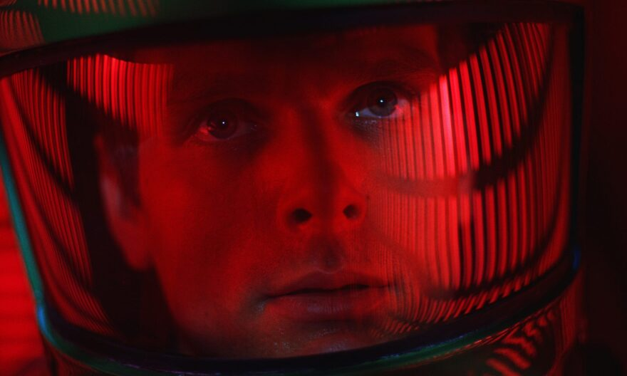 """This image released by Warner Bros. Pictures shows Keir Dullea in a scene from the 1968 film, """"2001: A Space Odyssey.""""  (Warner Bros. via AP)"""