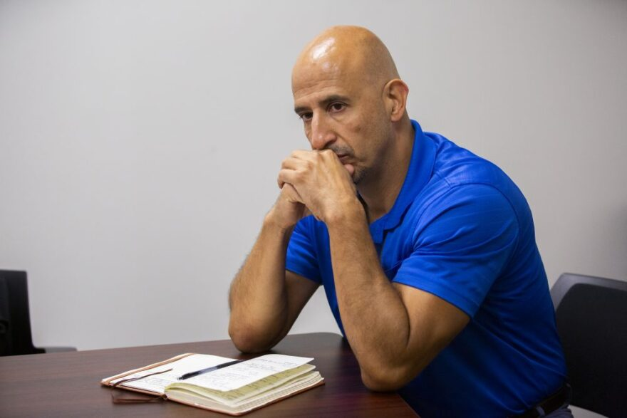Matt Montaño, TEA Deputy Commissioner of Special Populations, listens to questions asked during an interview on Monday, Oct. 14, 2019, in Austin.