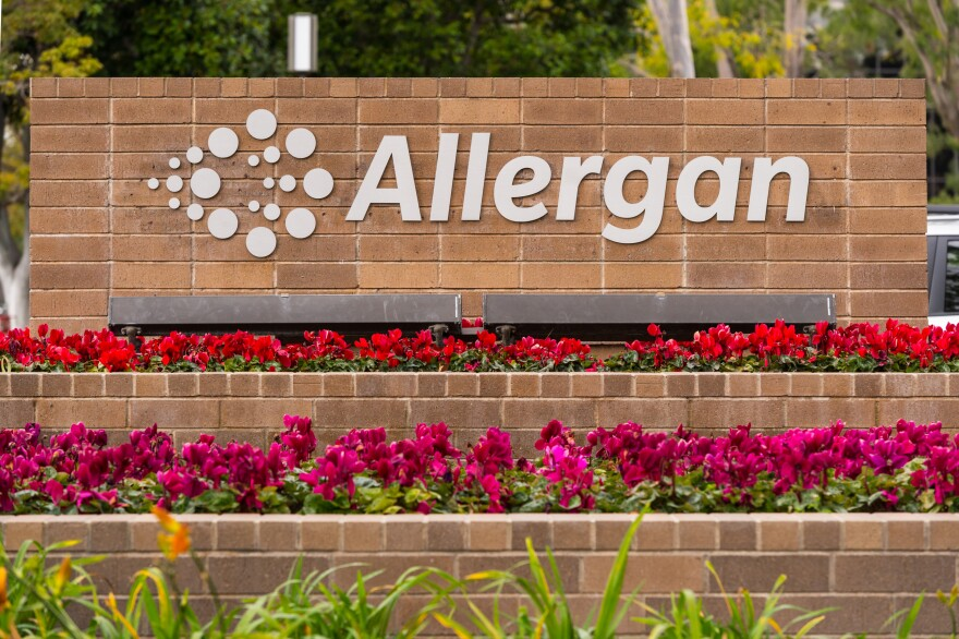 "Allergan said Wednesday that its ""Biocell saline-filled and silicone-filled textured breast implants and tissue expanders will no longer be distributed or sold in any market where they are currently available."""