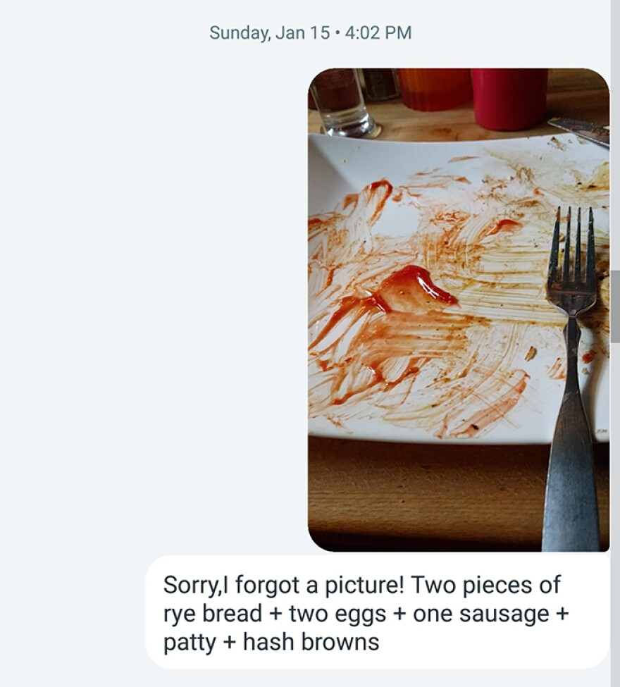 Brandie Jefferson was tasked with sending photos of what she ate two days a week to researchers. But it got harder to remember to do that before the food was gone.