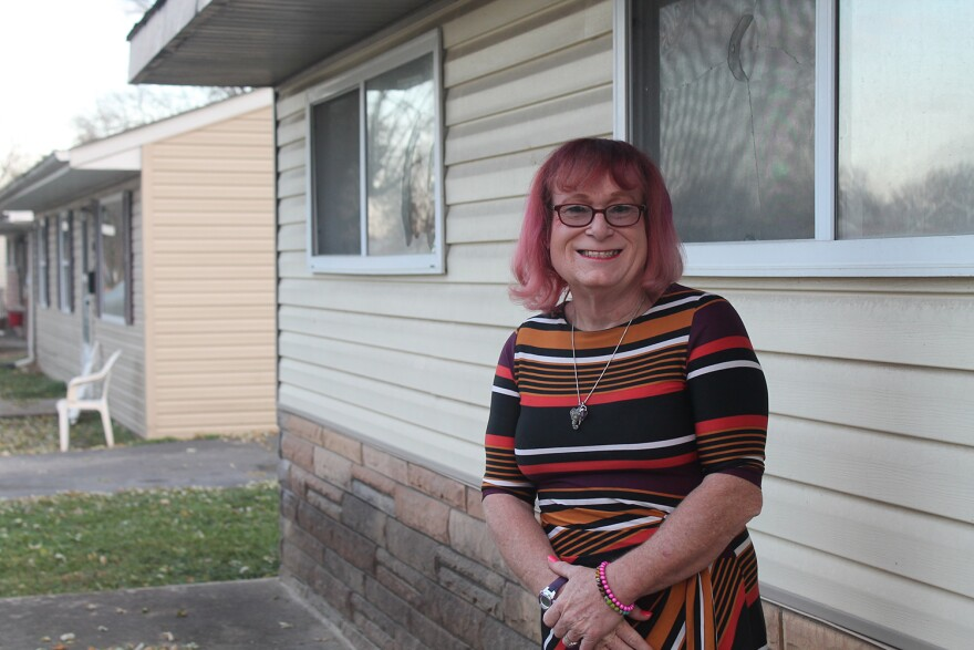 Shelley Richmond, a transgender woman, and her wife live in the same house in this Cahokia neighborhood where Richmond grew up.