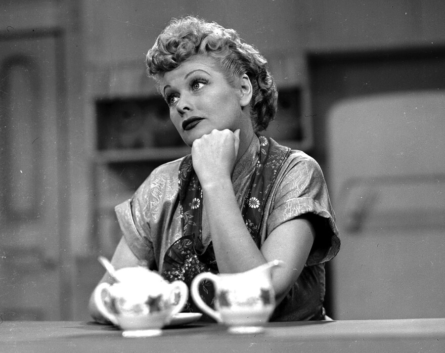 Lucille Ball is seen here in an episode of <em>I Love Lucy. </em>A sculpture of her in her hometown will be replaced with an improved version, according to the artist.