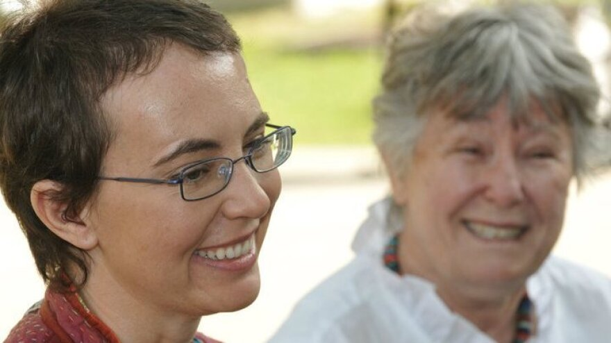 This photo of Rep. Gabrielle Giffords (left) and her mother, Gloria Giffords, was posted on her Facebook page earlier today (June 12, 2011).