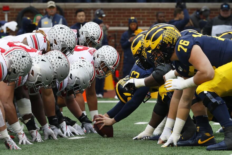 Ohio State vs. Michigan, NCAA college football game in Ann Arbor, Mich., Nov. 30, 2019