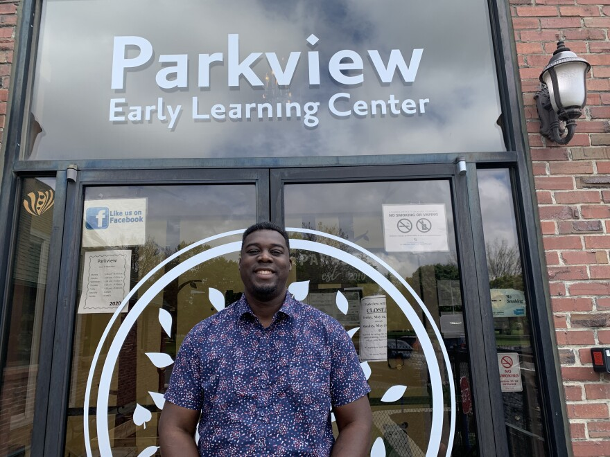 Parkview Early Learning Center in Spokane, Wash., has been operating at one-third capacity under pandemic guidelines. Co-owner Luc Jasmin III says it has been tough to turn away parents, many of whom are essential workers.