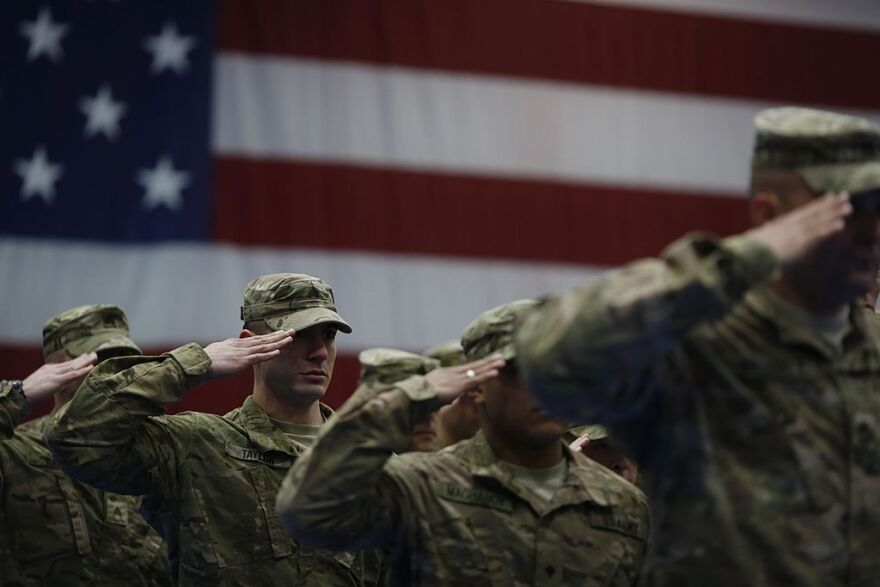 Soldiers from the U.S. Army's 3rd Brigade Combat Team, 1st Infantry Division. (Luke Sharrett/Getty Images)