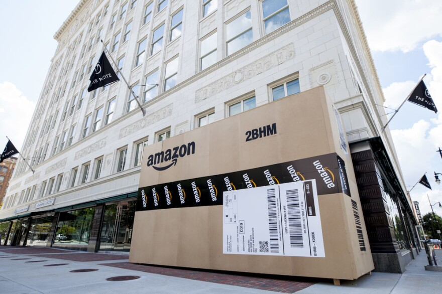 Cities across the country are trying to land Amazon's second headquarters. In Birmingham, Ala., giant Amazon boxes were constructed and placed around the city.