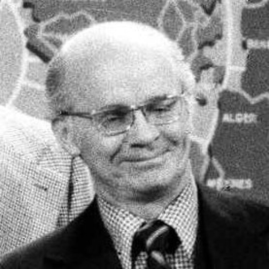 Martin E. Marty, a professor at the University of Chicago, appeared on the NBC-TV Today show to celebrate the show's 25th anniversary on network TV on Jan. 14, 1977, with current and former staffers and other guests.