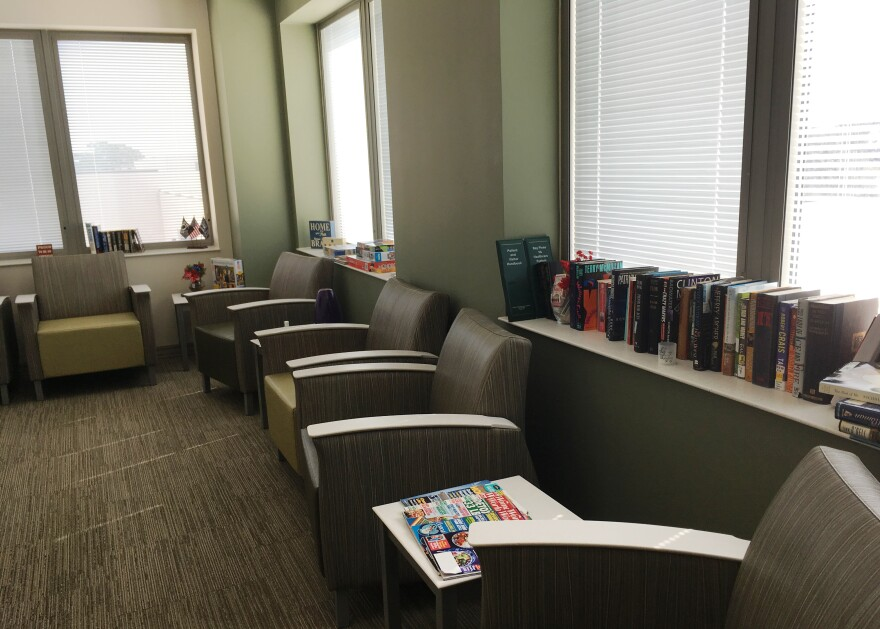 One of the community rooms for vetereans in the coed, residential program for military sexual survivors.