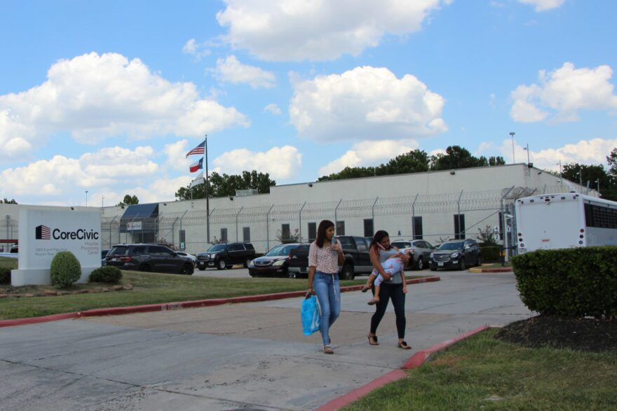 CoreCivic's Houston Processing Center is one of dozens of facilities in Texas that hold immigrant detainees.