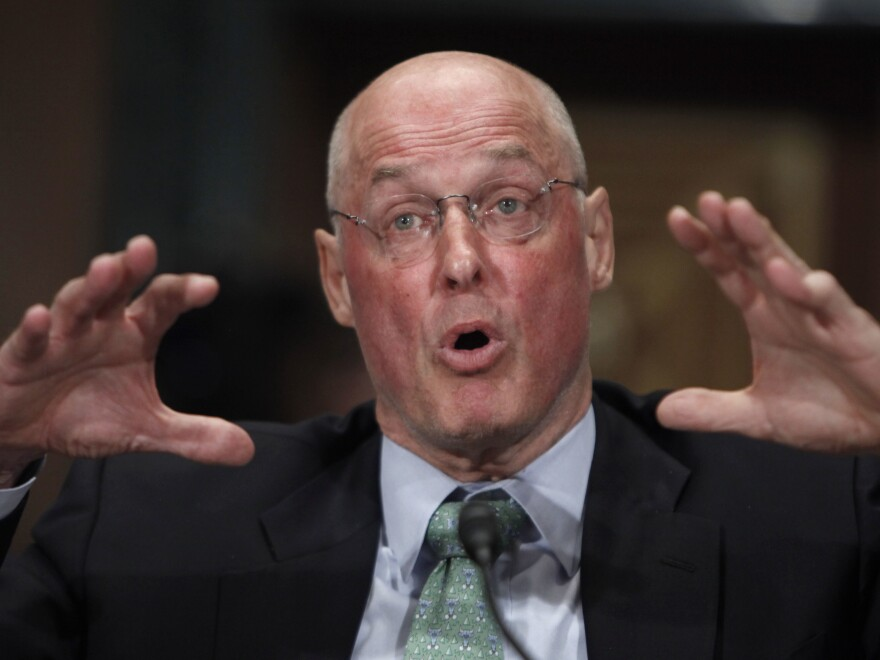 "Henry Paulson, who served as Treasury secretary during the 2008 financial crisis, says the current Treasury secretary and the Fed chair have ""got their work cut out for them."""