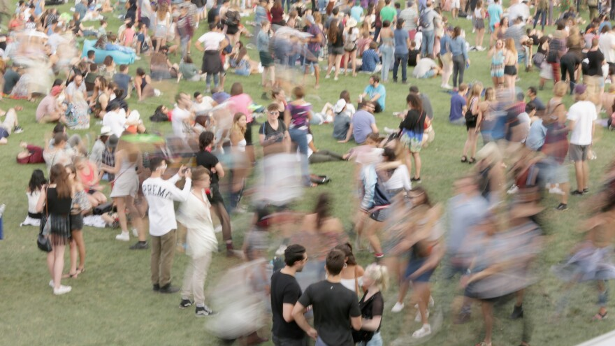 Attendees during the Panorama Music Festival at Randall's Island on July 29, 2017 in New York City.