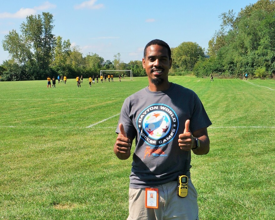 Lamonte Hall is the tournament organizer. He says one of his favorite parts of the job is getting to learn about participants' native countries and cultures.