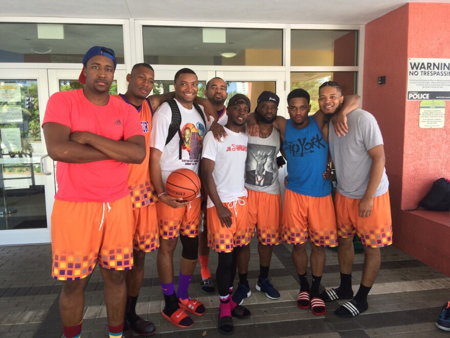 A basketball team from Atlanta bussed down to Miami Beach early in order to make the rescheduled basketball tournament at the Scott Rakow Youth Center.