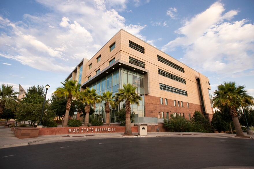 A photo of Dixie State University.
