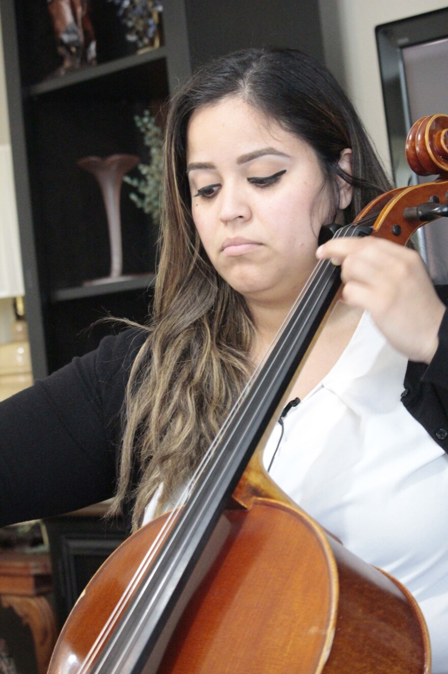 Cellist Christina Trongone gets much of her income from performing at weddings and from booking musicians for weddings.