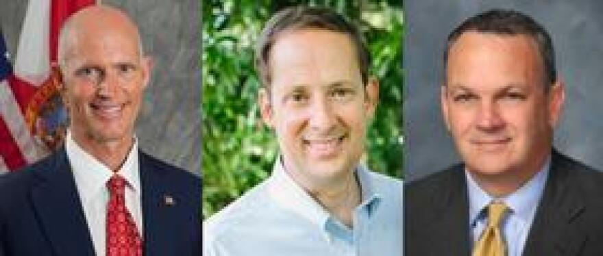 Gov. Rick Scott, Senate President Joe Negron, House Speaker Richard Corcoran