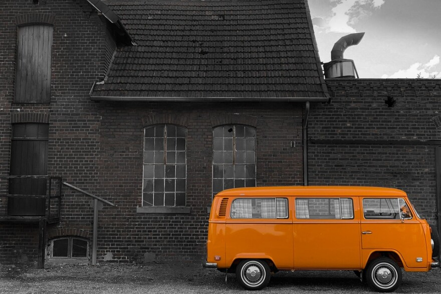 VW bus Orange in dark scene.jpg