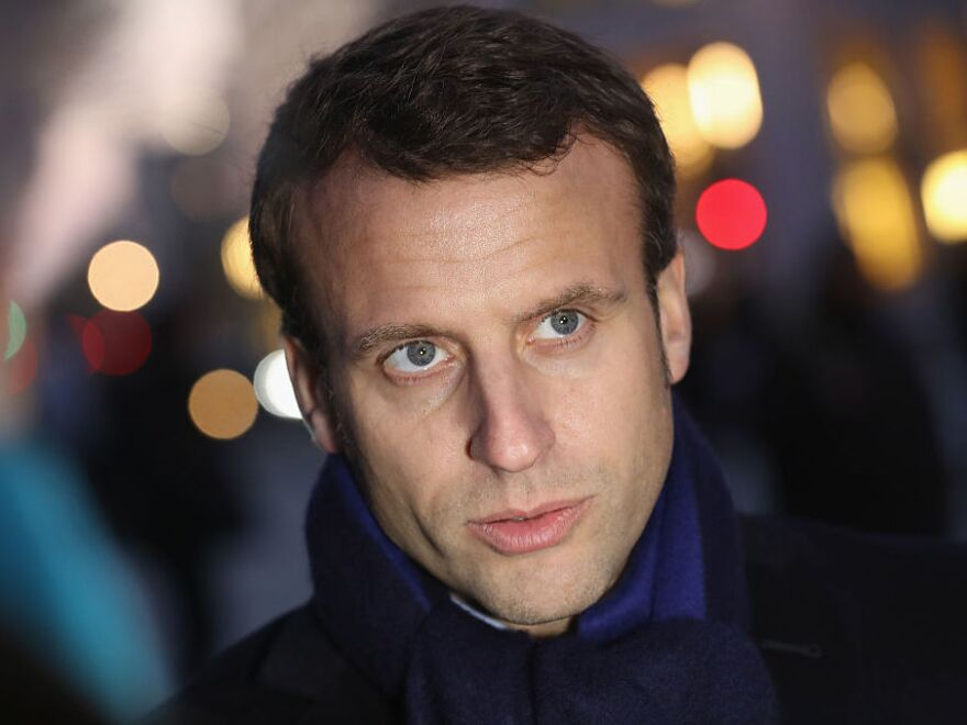 French President Emmanuel Macron, photographed in Berlin in January 2017.