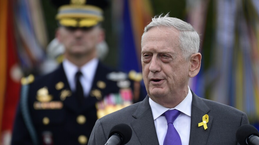 Defense Secretary Jim Mattis announced his resignation on Thursday, following a decision by President Trump to withdraw American troops from Syria. He'll be replaced by Deputy Secretary of Defense Patrick Shanahan starting in January.