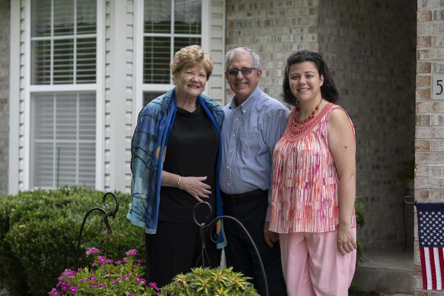 Celeste Marx, left, with her husband, Len, and youngest daughter, Lisa. The 66-year-old spent a week on a ventilator at St. Luke's Hospital in Chesterfield, after contracting the coronavirus.