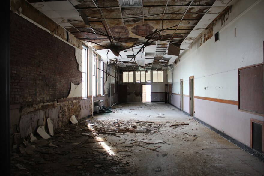 Eliot Elementary in St. Louis, Mo., closed 10 years ago. The building remains empty.
