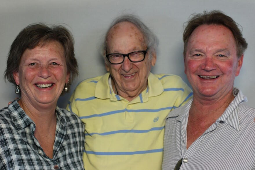 (from left) Louise Smith, David Fleming and John Fleming