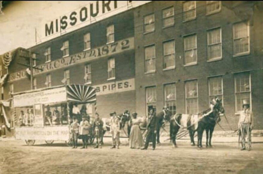 The oldest section of the Missouri Meerschaum Company's factory building is 135 years old.