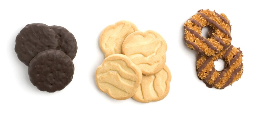 Thin mints, shortbreads and caramel delights. Danielle Lei, 13, sold 117 boxes outside a medical marijuana clinic in San Francisco.