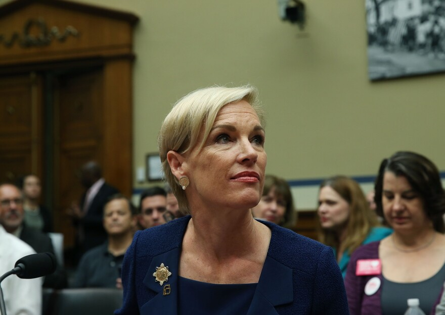 Cecile Richards, president of Planned Parenthood Federation of America, testifies Tuesday during a House Oversight and Government Reform Committee hearing on Capitol Hill.