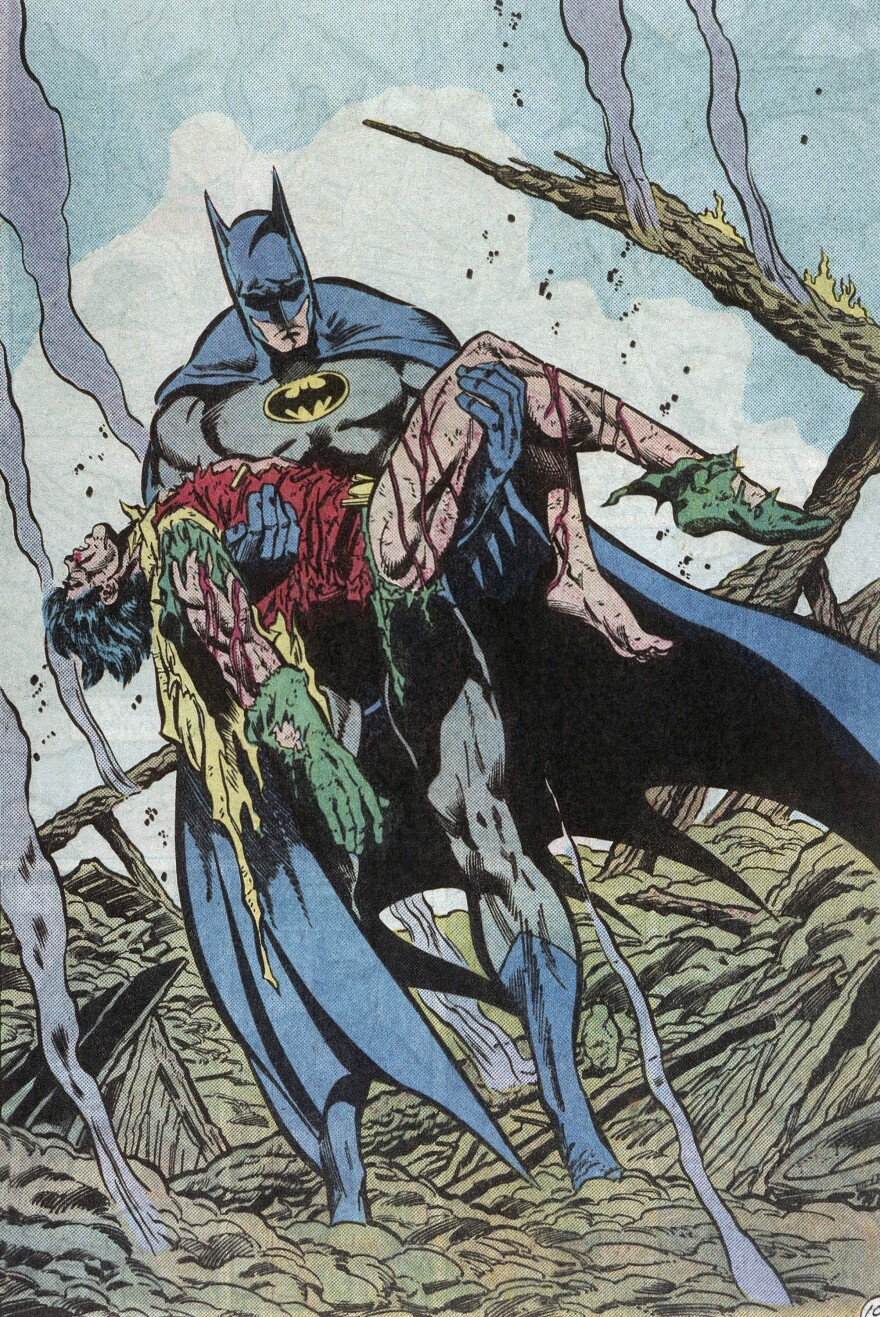 In the 1980s Batman took darker and less whimsical turn, becoming a grim avenger of the night.