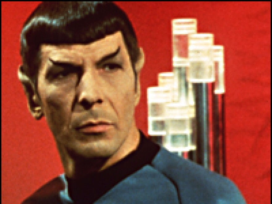 Leonard Nimoy as Mr. Spock. The character's mixed Vulcan and human heritage set him apart from the rest of the <em>Star Trek</em> crew.