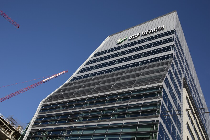 The USF Health Morsani College of Medicine and Heart Institute opened in the Water Street Tampa district Wednesday. DAYLINA MILLER/WUSF PUBLIC MEDIA