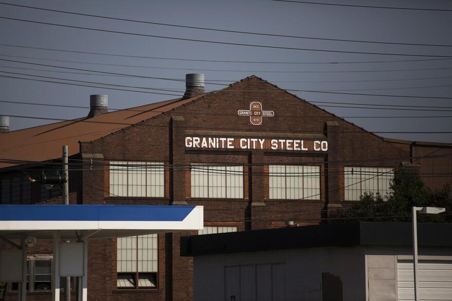 Granite City steel plant on July 20, 2017.