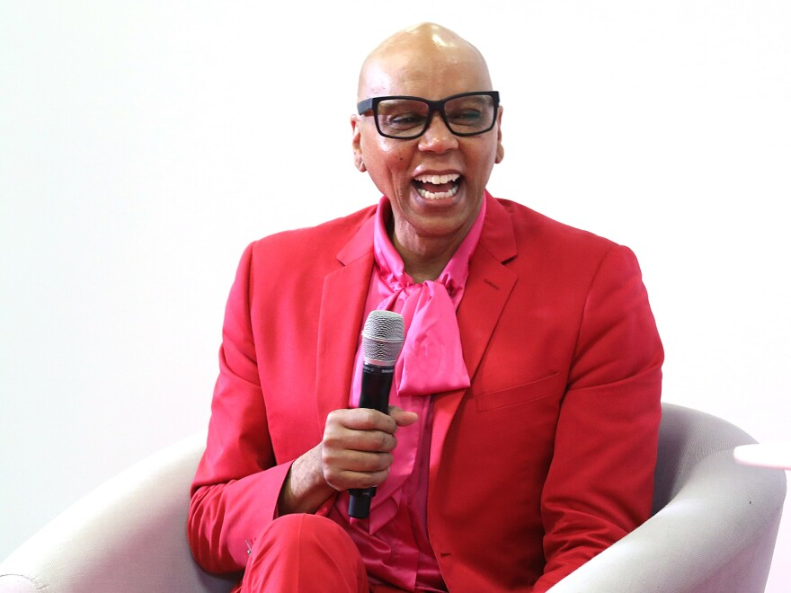 """""""It's all a lie — this world is a lie,"""" says RuPaul Charles. """"So don't base your value on the lie."""" RuPaul is shown above in London on Jan. 18, 2020."""