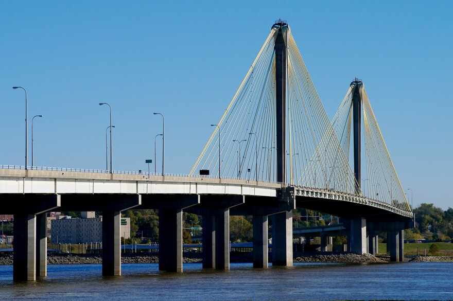 Southbound lanes of US 67 across the Clark Bridge are expected to remain closed for at least the first part of the work week.