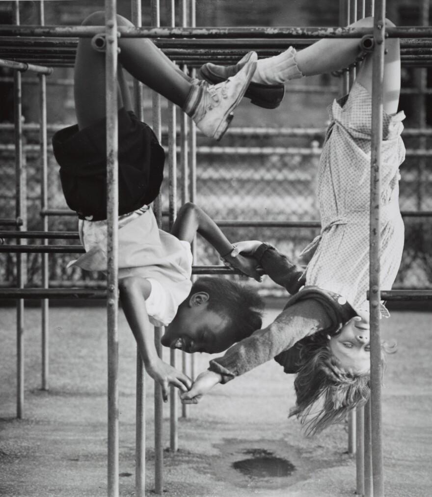 Kids Touching, 1940s.