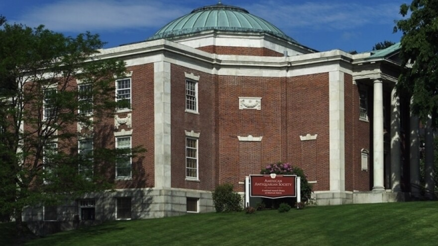Antiquarian Hall, the home of the American Antiquarian Society, is located in Worcester, Mass.