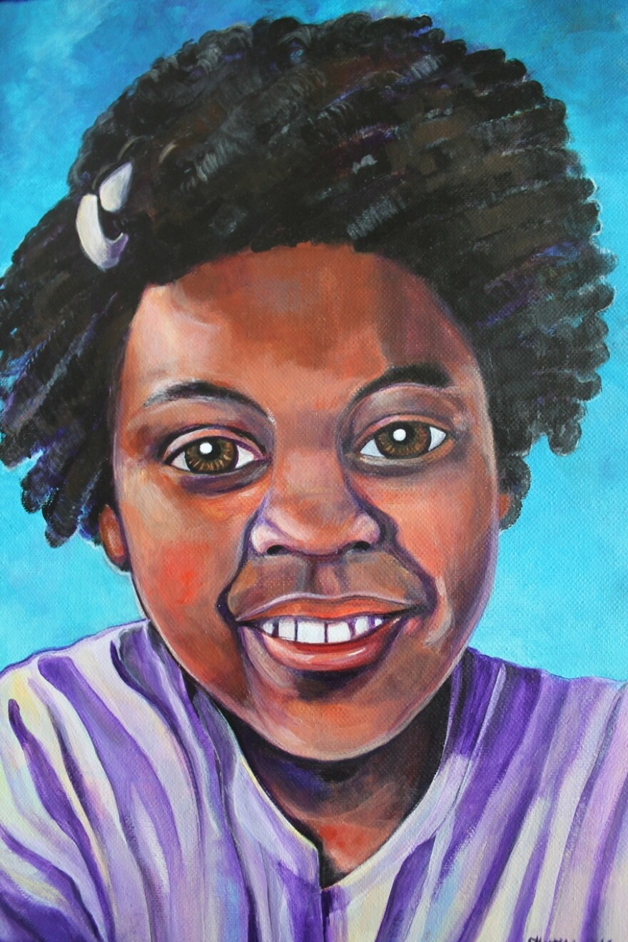 The portrait of Jamyla Bolden painted by Jane Martin for Kendric Henderson