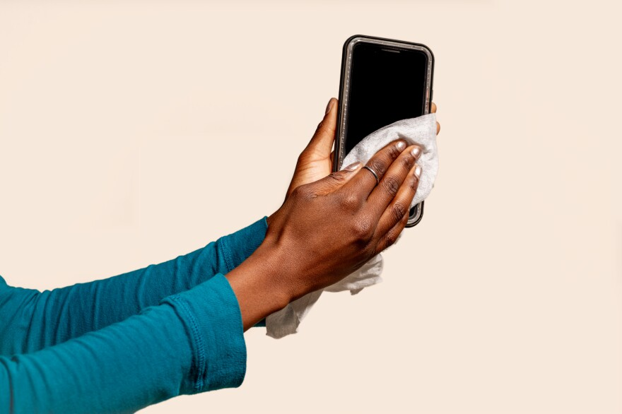 "One way to fend off germs: Clean your phone. Your phone is your ""third hand""; one that harbors the multitude of germs and bacteria we come into contact with each day."